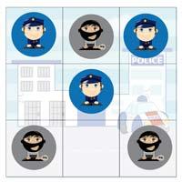 L'activité du mercredi : un jeu de morpion police / bandit