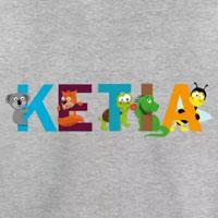 tee shirt enfant bébé prénom ketia