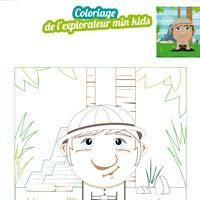 L'activité du mercredi : le coloriage du petit explorateur