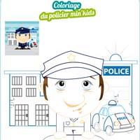 L'activité du mercredi : coloriage du policier min'kids
