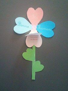 fleur en papier fête des mères