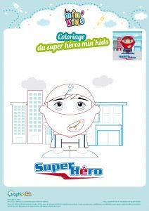 coloriage super héros min'kids