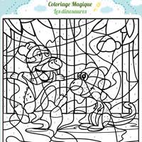 L'activité du mercredi : Le coloriage magique dinosaure