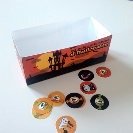 jeu boîte à bonbons d'Halloween