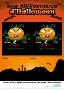 jeu des différences d'halloween