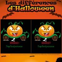 L'activité du mercredi : jeu des différences d'Halloween