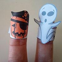 L'activité du mercredi : Marionnettes à doigts d'Halloween