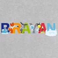 tee shirt enfant bébé Brayan prénom illustré