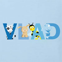 tee shirt enfant bébé Vlad prénom illustré