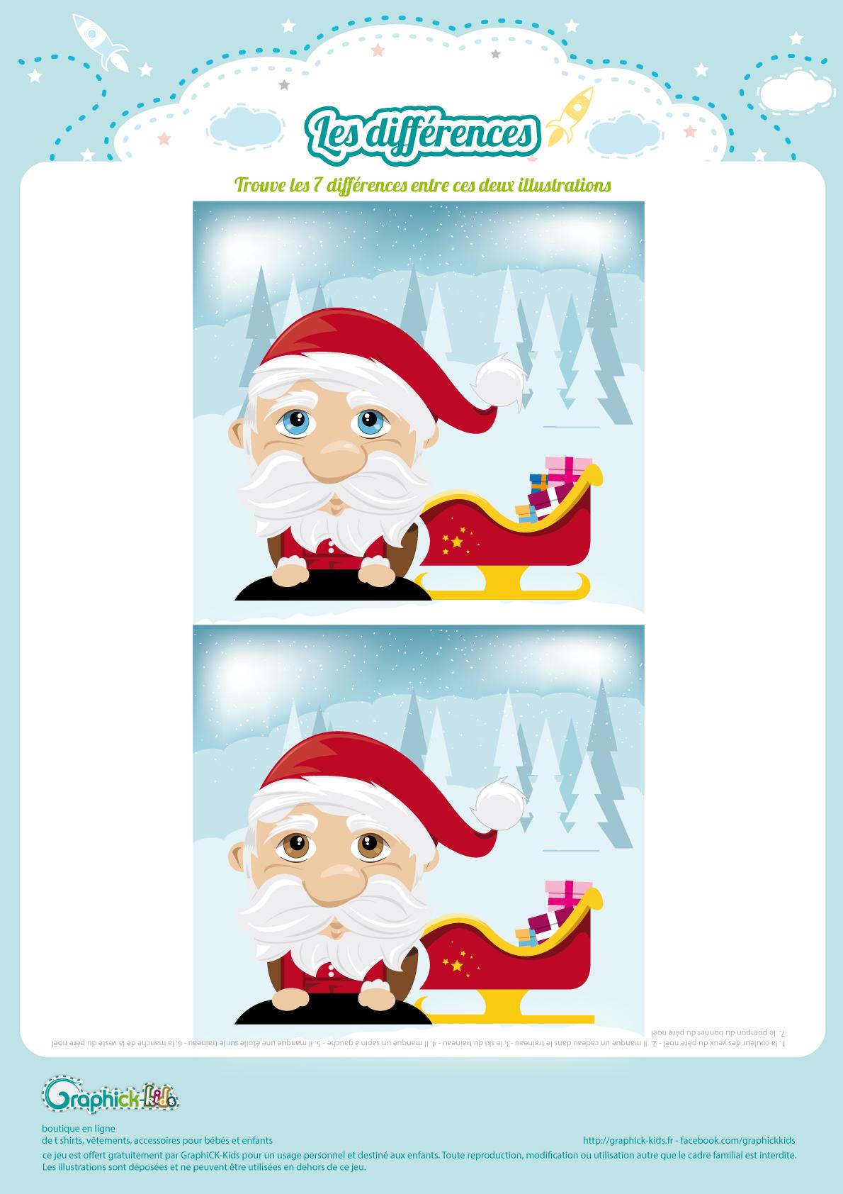 L Activite Du Mercredi Les Differences Du Pere Noel Graphick Kids