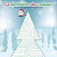 labyrinthe de Noël en forme de sapin