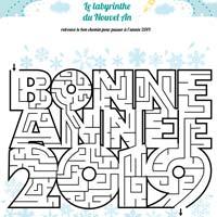 labyrinthe nouvelle année voeux