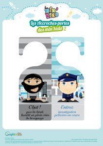 accroche-porte police bandit