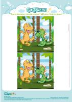 L'activité du mercredi : Les différences des dinosaures
