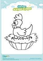 L'activité du mercredi : Le coloriage de la poule de pâques