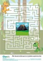 L'activité du mercredi : le labyrinthe des dinosaures