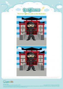 jeu des différences ninja