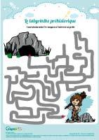 L'activité du mercredi : le labyrinthe préhistorique