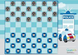 jeu-de-dames-enfant-policier-bandit