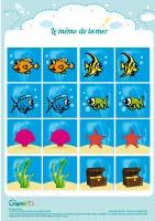 L'activité du mercredi : le mémo de la mer