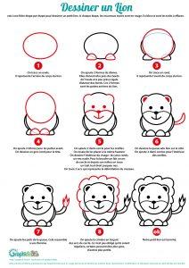 apprendre à dessiner un lion