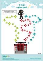 L'activité du mercredi : Le labyrinthe ninja
