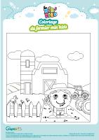 L'activité du mercredi : coloriage du fermier min'kids