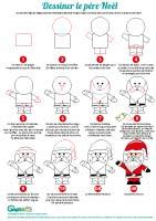 L'activité du mercredi : Dessiner le Père Noël en 10 étapes