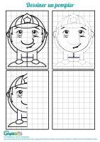 L'activité du mercredi : dessiner un pompier