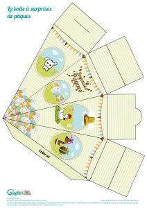 boîte à surprises de pâques à imprimer