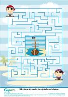 L'activité du mercredi : le labyrinthe pirates