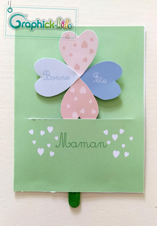 L'activité du mercredi : une carte fleur popup pour Maman