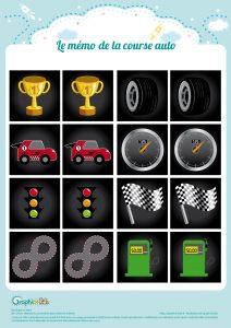 memo de la course auto