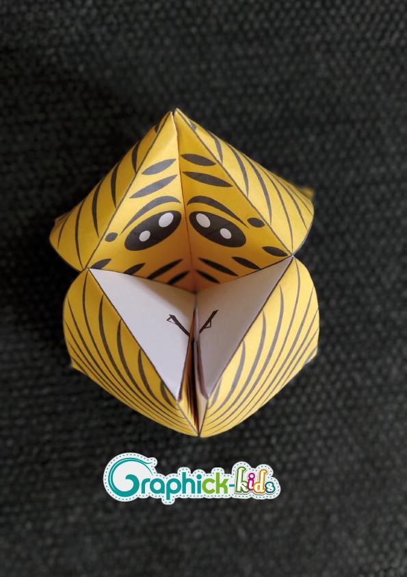 L'activité du mercredi : la cocotte en papier tigre