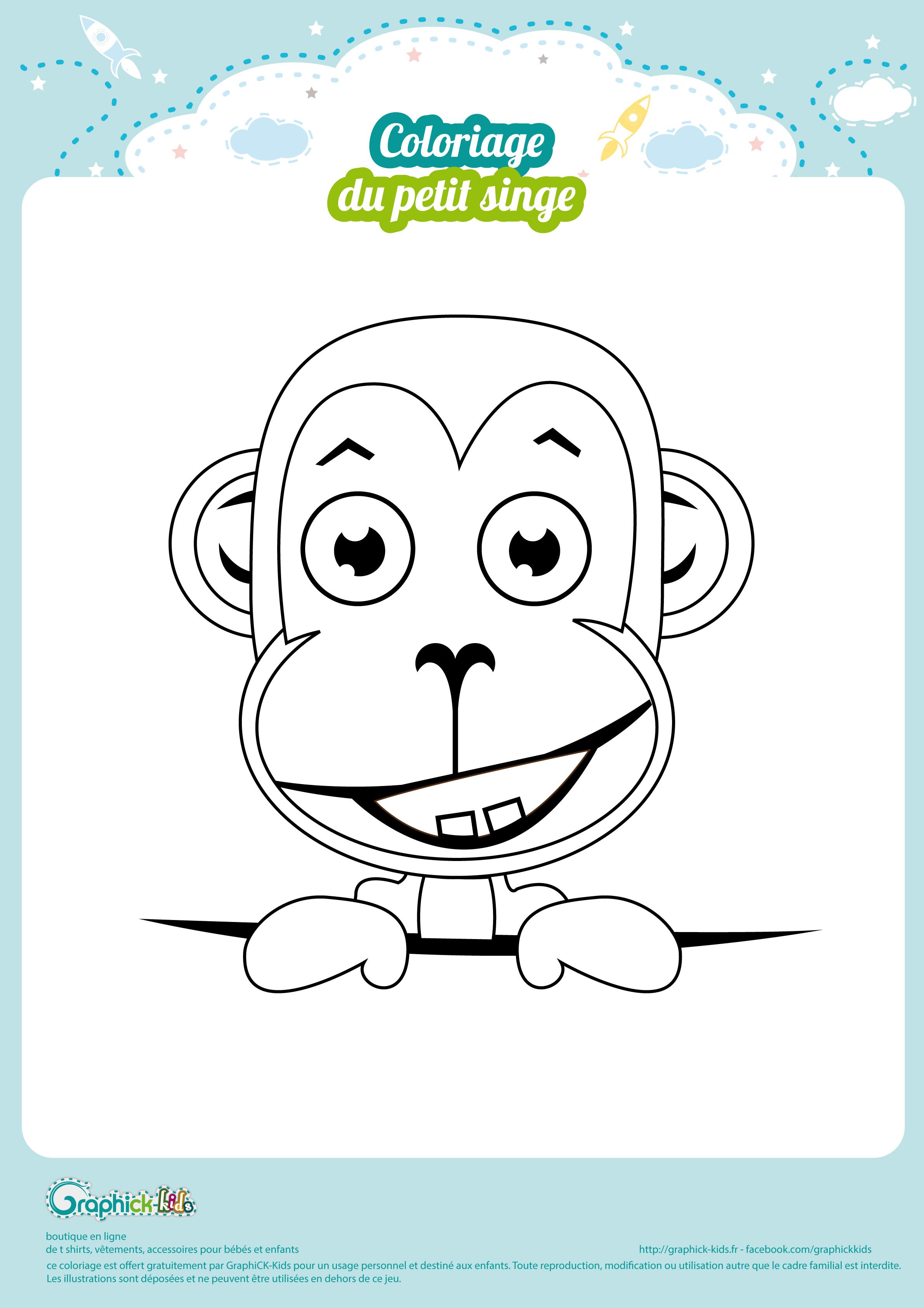L'activité du mercredi le coloriage singe   GraphiCK Kids
