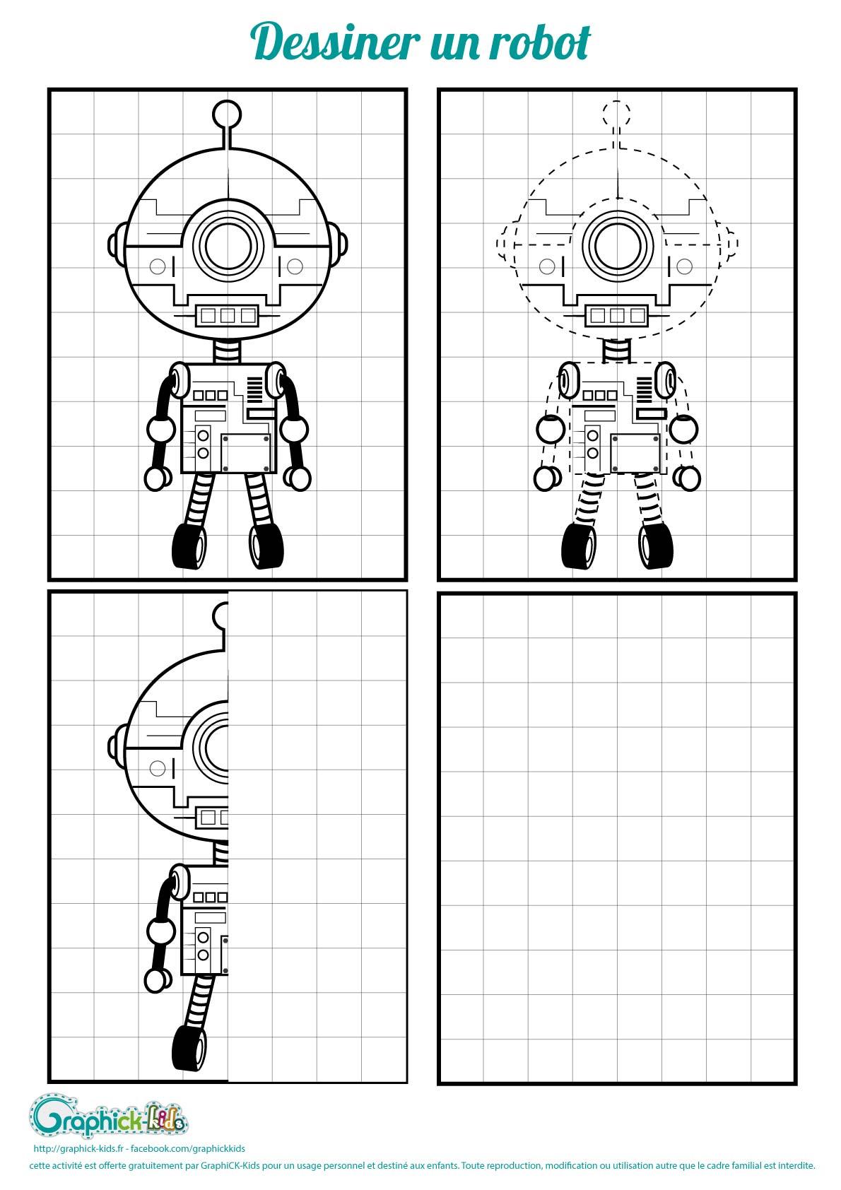 L'activité du mercredi : dessiner un robot